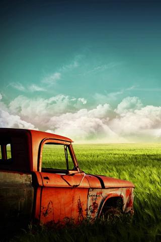 wallpaper iPhone Old Truck