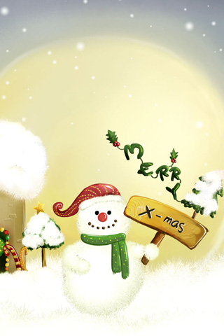 wallpaper iPhone Snowman