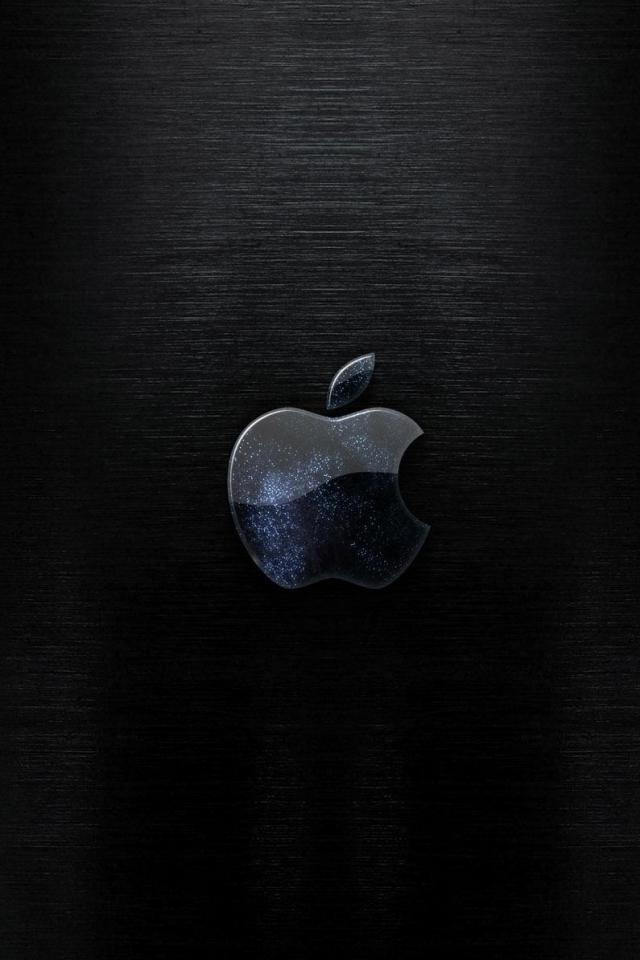 wallpaper iPhone Black Blue Apple