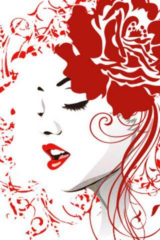 wallpaper iPhone Rose Red