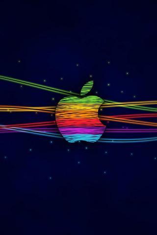 wallpaper iPhone Apple Color Sketch