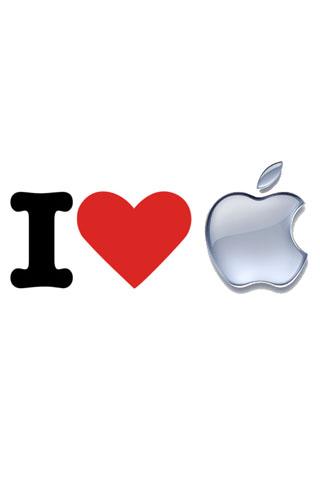 wallpaper iPhone I <3 Apple