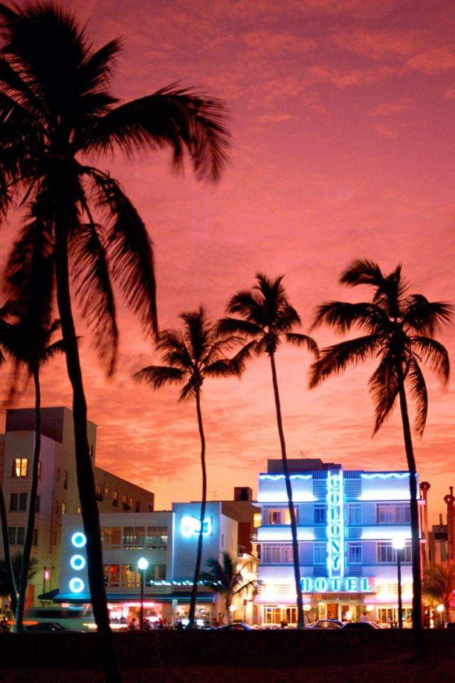 wallpaper iPhone Miami Beach