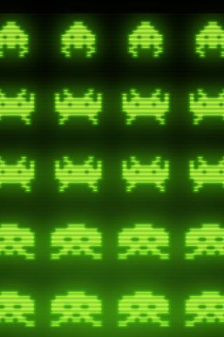 wallpaper iPhone Space Invaders