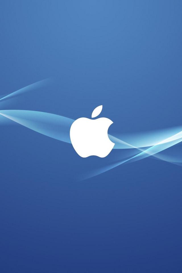 wallpaper iPhone Blue Apple Wave