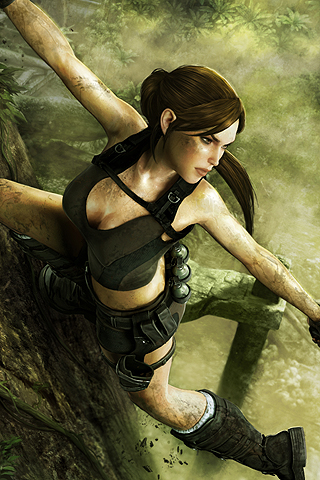 wallpaper iPhone Jungle Lara