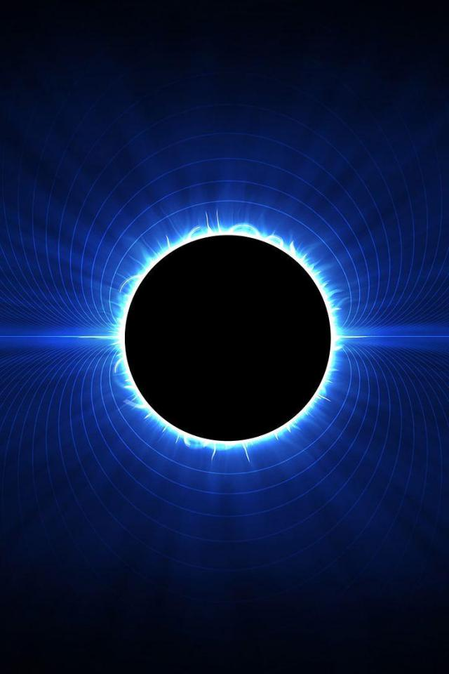 wallpaper iPhone Blue Eclipse