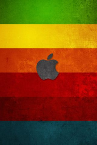 wallpaper iPhone Apple Rainbow