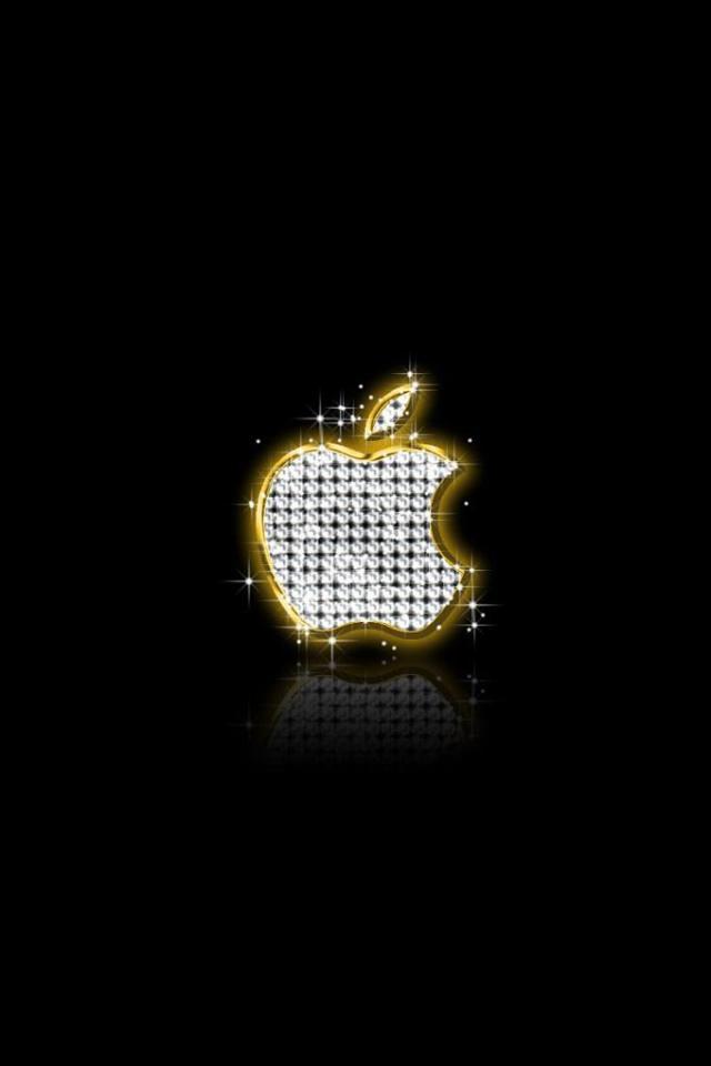 wallpaper iPhone Apple Glitter