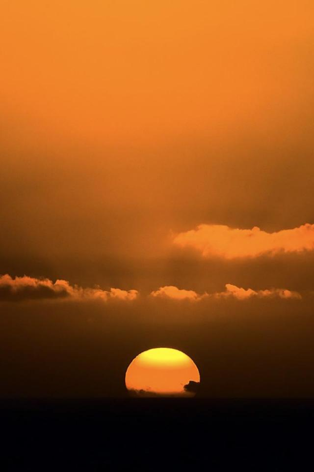 wallpaper iPhone Golden Sunset