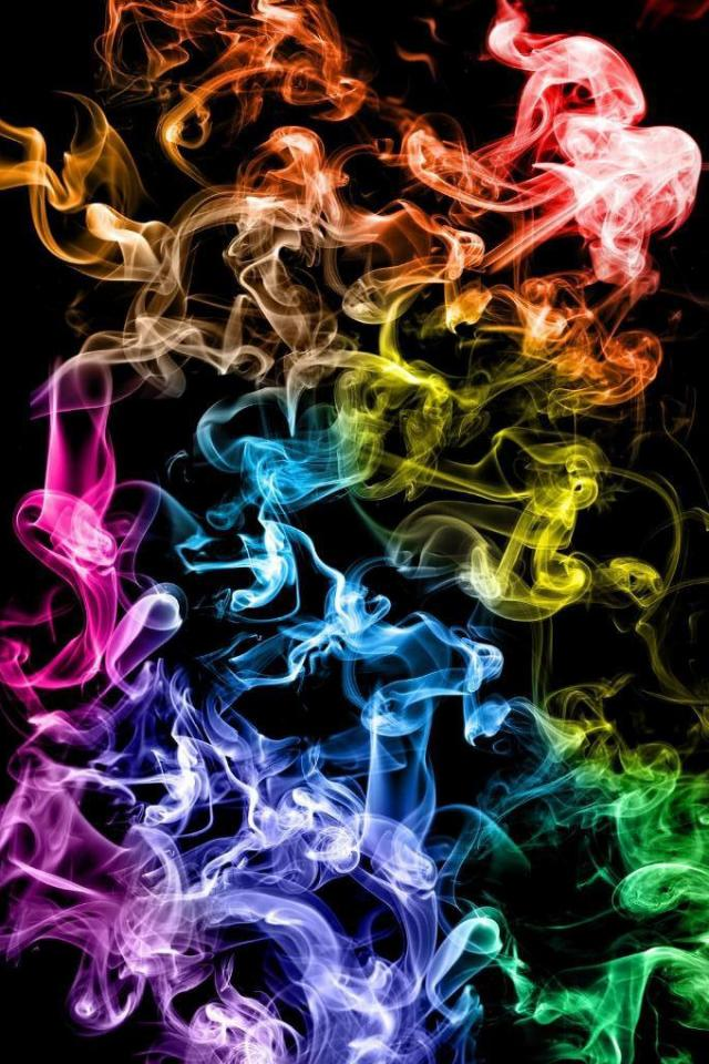 wallpaper iPhone Colored Smoke