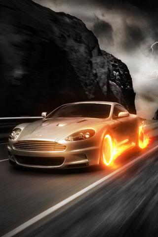 wallpaper iPhone Aston Fire