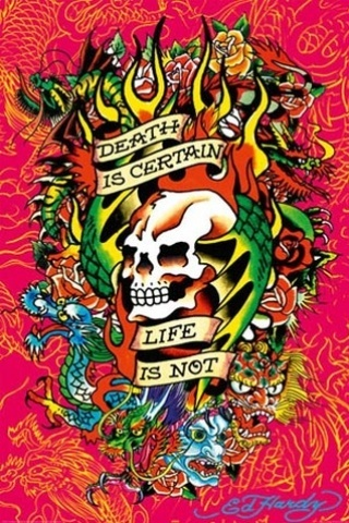 wallpaper iPhone Ed Hardy