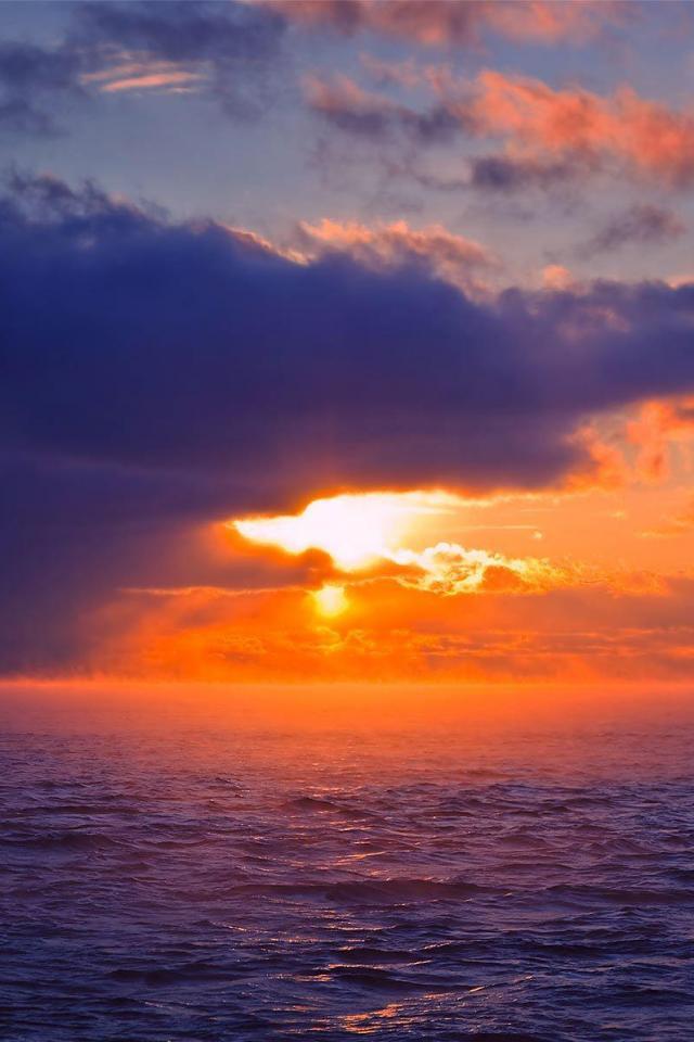 wallpaper iPhone Maritime Sunset