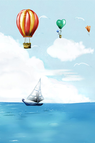 wallpaper iPhone hot air balloon