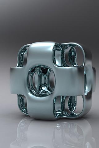wallpaper iPhone Metal Cube