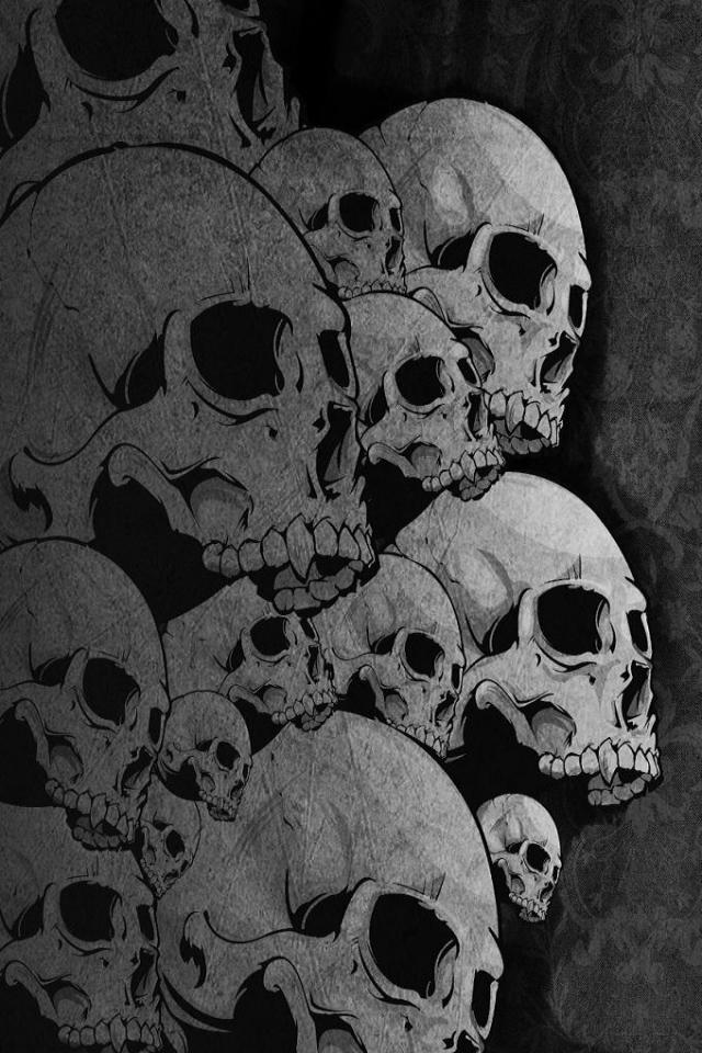 wallpaper iPhone Skulls
