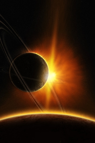wallpaper iPhone Orbital Eclipse