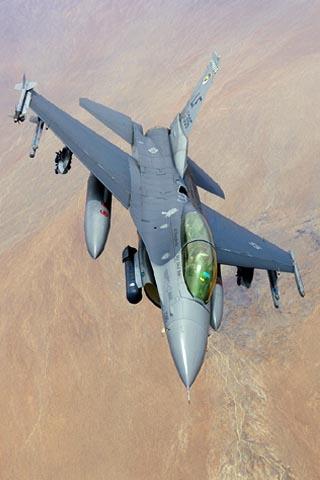wallpaper iPhone F-16DG Night Falcon