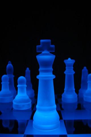 Wallpaper Iphone Blue Chess 3892