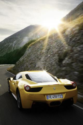 wallpaper iPhone Ferrari 458 Italia