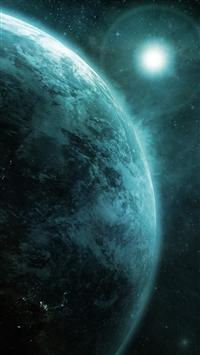 wallpaper iPhone Moon Earth 10