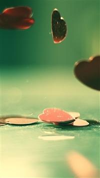 wallpaper iPhone Rebound Hearts 12