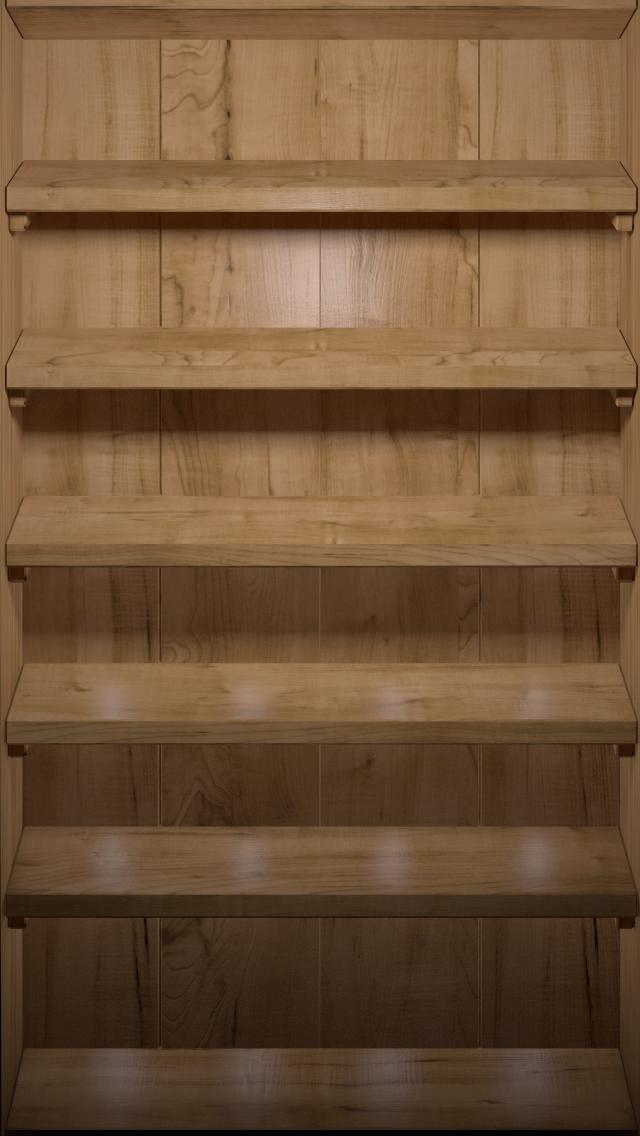 wallpaper iPhone Wooden Shelf, 640x1136 14