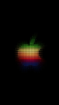 wallpaper iPhone Colorful Dots Apple Logo 6