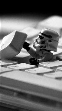 wallpaper iPhone Star Wars Lego on Keyboard 2