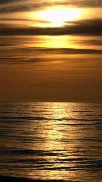 wallpaper iPhone Dark Sunset Beach 12