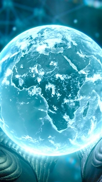 wallpaper iPhone Prometheus Earth 2