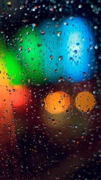 wallpaper iPhone Colorful Rainy Grass 7
