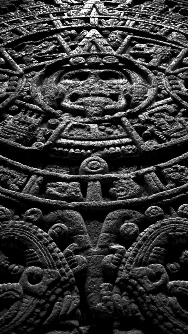 wallpaper iPhone Mayan Calendar  05 14