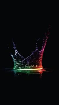 wallpaper iPhone Colorful Water Drops 3