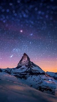 wallpaper iPhone Cervino Night Sky 1