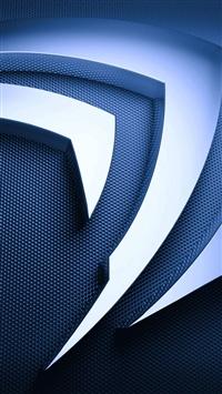 wallpaper iPhone 3D Metal Nvidia Logo 2