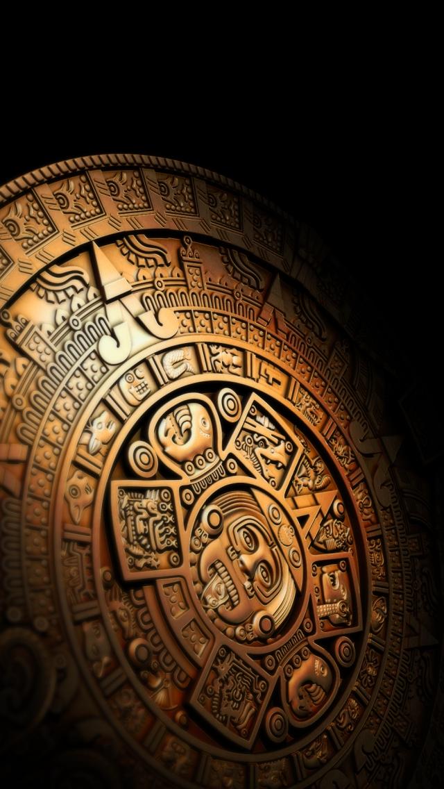 wallpaper iPhone Mayan Calendar  03 12