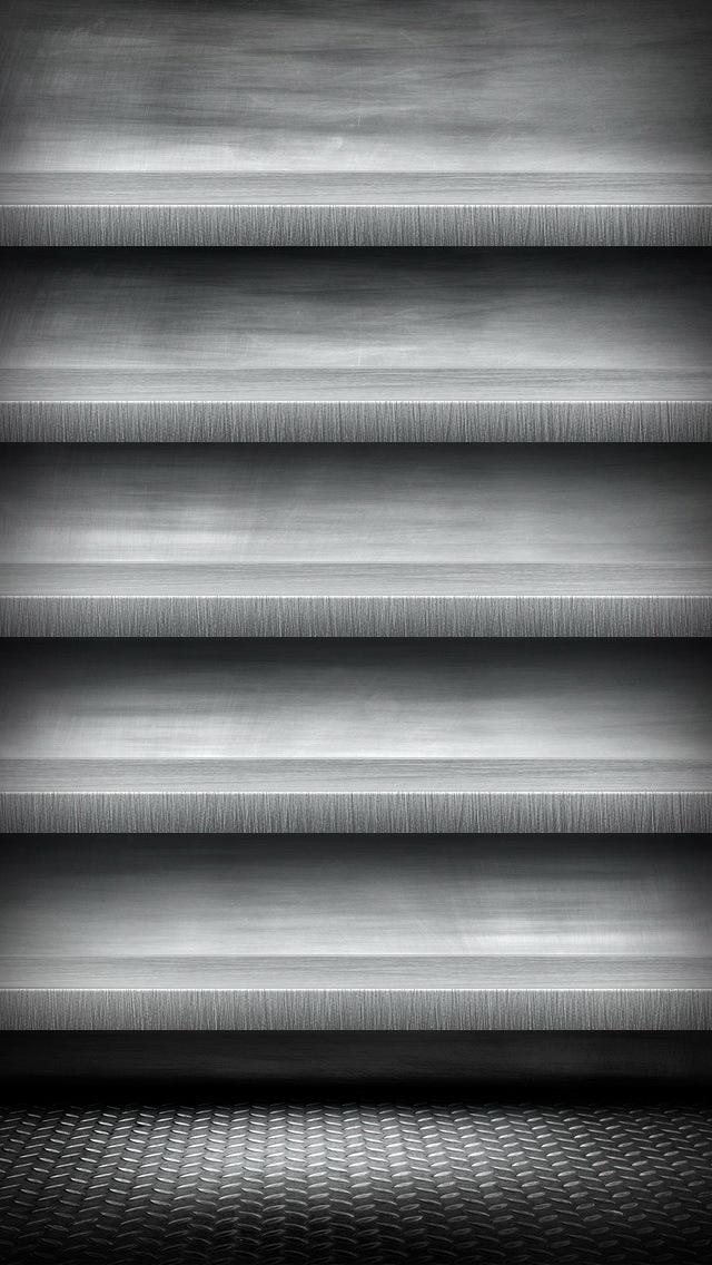 wallpaper iPhone Wallpaper Steel Shelves 05 5