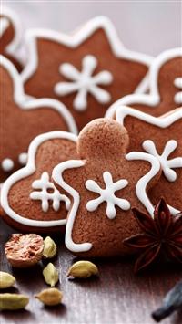 wallpaper iPhone Gingerbread Figures 6