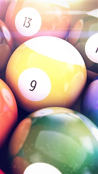 wallpaper iPhone Billiards Balls 2