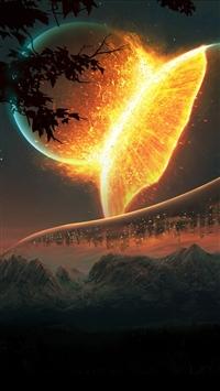 wallpaper iPhone Futuristic Planets 4
