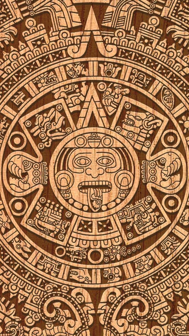 wallpaper iPhone Mayan Calendar  04 13