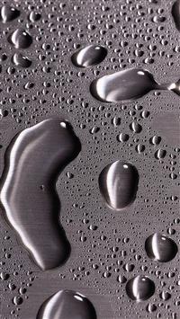 wallpaper iPhone Metal Drops 12