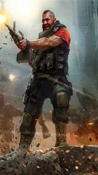 wallpaper iPhone world of mercenaries character 4