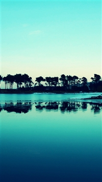 wallpaper iPhone Blue Nature Forest 4