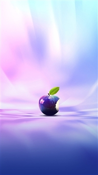 wallpaper iPhone Purple Apple 8