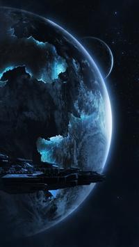 wallpaper iPhone Spaceship War 7