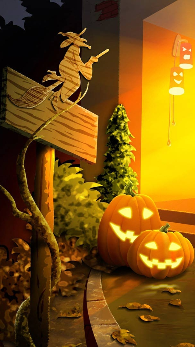 wallpaper iPhone Halloween Theme 8