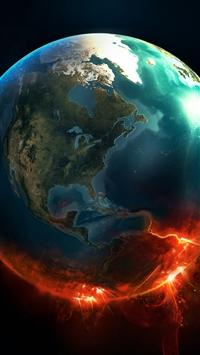wallpaper iPhone Fire Earth 3